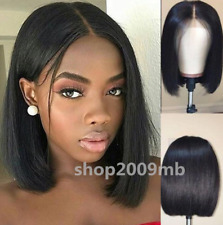 """12"""" Short Wigs Brazilian Lace Front Hair Wig PrePlucked+Baby Hair Bleached Knots"""