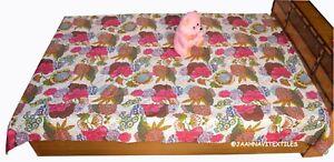 Twin Size Indien Cotton Handmade Vintage Bedding Kantha Quilt Blanket Bedspread