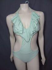Express size M swimwear one piece ruffled monokini swimsuit