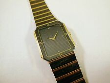 Lassale by Seiko Black & Gold Tone Stainless 2F50-0720 Sample Watch NON-WORKING