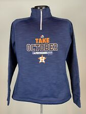 Women's 1/4 Zip Houston Astros Majestic Take October 2015 Postseason Pullover L