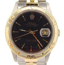 Rolex Datejust Mens 2Tone 18K Gold & Steel Turn-O-Graph Thunderbird Watch 16263