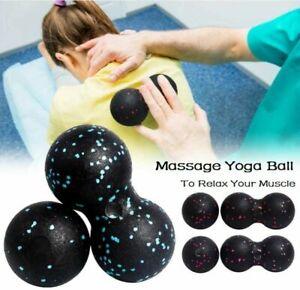 US Peanut Massage Ball Muscle Back Roller Yoga Pilate Cycling Myofascial Release