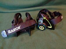 Razor Jetts Heel Wheels Skates Green Black Adjustable Rollers 25056130