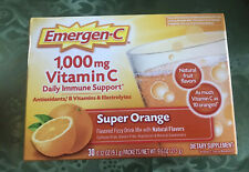 Emergen-C Immune Support 1000 mg Super Orange 🍊 Vitamin C Supplement. 30ct. Box