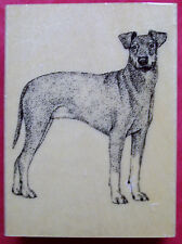 Manchester Terrier Dog  Wood-mounted Rubber Stamp Stamp Gallery  New