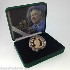 2002 The Queen Mother Gold Proof Memorial Crown £5 Five Pound Coin FDC*