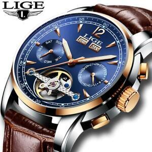 relogio masculino Mens Watches Top Brand Luxruy LIGE Automatic Watch Men Waterpr