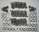 MGB GT rear lifting floor/rear seat back, screws for hinges - Stainless (Qty 36)