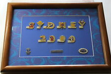 2000 SYDNEY OLYMPICS LIMITED EDITION FRAMED PIN SET 487-5000 Approx 420 x 320 mm