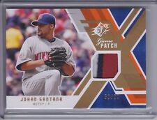 JOHAN SANTANA 2009 SPx Game Patch Jersey #59/99 #GJ-SA (D2630)