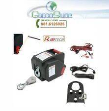 Verricello/Argano/Paranco elettrico 12V 2000 lbs c/telecomando Ribitech - PE12V