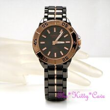 OMAX 5atm 5Bar Waterproof Seiko Movt Gunmetal & Rose Gold Pl Unisex Watch DBA635