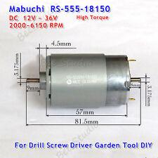 Dc 12V-36V High Torque Mabuchi RS-555PH Motor for Drill Screw Driver Garden Tool