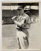1934 SPALDING BAT ORIGINAL TYPE 1 PROMO PHOTO CINCINNATI REDS WALLY BERGER BURKE