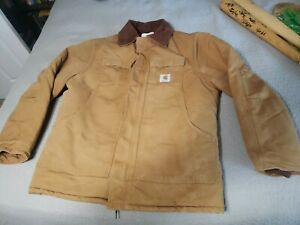 Vintage Carhartt CQ186 Arctic Quilt Lined Chore Duck Canvas Jacket Size 44 USA