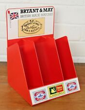 Vintage Bryant & May Swan Matchbox Countertop Retail Display Case New Old Stock