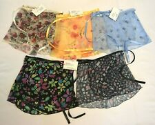 Trienawear Girls Adorable Floral Wrap Ballet Dance Skirts-Lot#2 of 5 skirts NWT