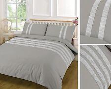 Duvet Cover Set Egyptian Cotton Sequins Lace plain Double Single Super King New