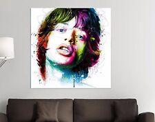 XXL bild-popart100x100x5 MICK JAGGER Cuadro de Colores Lienzo Lona IKEA Designe
