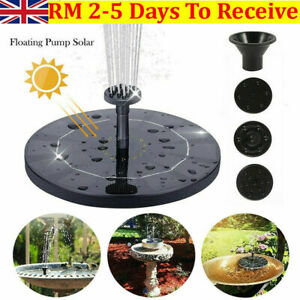 MINI Solar Panel Powered Water Pump Pool Pond Aquarium Fountain Spray Feature UK