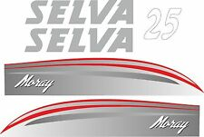 ADESIVI MOTORE BARCA SELVA MORAY 25CV FUORIBORDO GOMMONE MARE COD94
