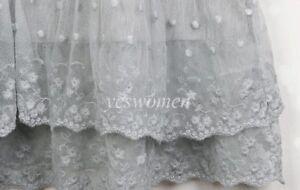Vintage Lace Trim Long Full Length Camisole Slip Top/ Cami Dress Extender