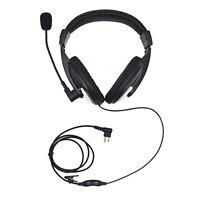 Noise Cancelling Radio Overhead Headphones with Boom Mic for Motorola 2-Pin