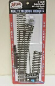 Atlas 541 #4 Right Hand Turnout Switch Nickel Silver Code 83 HO Scale Track