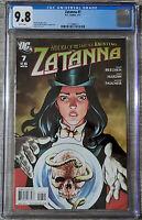 Zatanna #7 Jesus Saiz Cover CGC 9.8 DC Comics 2011