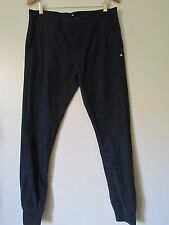DC Shoes Navy Blue Slim Fit Button Fly Casual Chino Jogger Pants NWOT SZ: 31