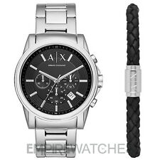 *NEW* MENS ARMANI EXCHANGE BANKS WATCH + GIFT BRACELET - AX7100 - RRP £199.00
