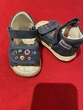 Naturino Falcotto Infant Baby Girl Denim Sandals Leather Lined EUR 18 / US 2.5