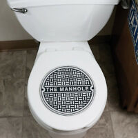 Rubber Man Cave Hole Sewer Bathroom Lid Cover Toilet Bowl Sign + 1 Million Bill