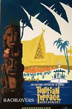 """DISNEYLAND TAHITIAN PALACE RESTAURANT Official Attraction Poster 12 x 18"""""""