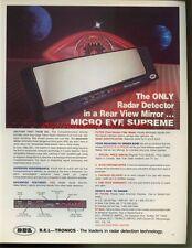 BEL-Tronics Micro Eye Supreme 1985 Magazine Advert #697