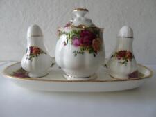 Royal Albert Old Country Roses Montrose Shape Cruet Set & Tray (Mustard S & P)
