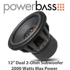"Powerbass 3XL-1220D - 12"" Dual 2-Ohm Car Audio Subwoofer 2000 vatios de potencia máxima"