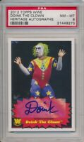 2012 Topps Heritage Autographs WWE Doink The Clown Auto Card PSA 8 #21449273