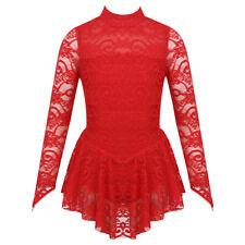 Girls Ice Skating Dress Sparkly Ballet Gymnastics Leotard Competition Costume