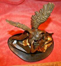 Vintage European Finery H. Godet Cupid & Nude Women Bronze Statue