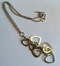 Vintage sterling silver hearts necklace
