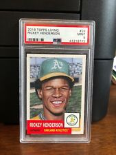 2018 Topps Living Rickey Henderson A's Baseball Card #28 PSA 9 Mint