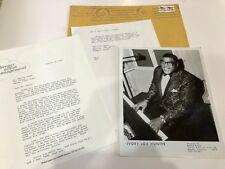 IVORY JOE HUNTER 8 x 10 Photo 1979