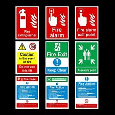 Fire Action / Alarm / Assembly Plastic Sign, Sticker - All Materials & Sizes