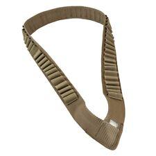 NcSTAR TAN Tactical Shotgun Shell Shotshell Shoulder Ammo Bandolier AA12BANT