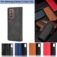 Leather Phone Protective Case Anti-fall Flip for Samsung Galaxy Z Fold 2 5G BAU
