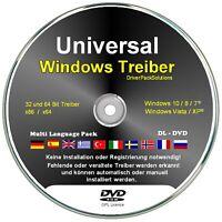 Windows Treiber DL DVD 7.3 GB Treiber Software für Drucker, W-LAN, Sound, Grafik