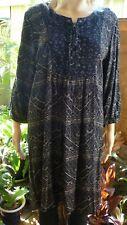 Lee Cooper black/ white dress / tunic 3/4 sleeve size M/12 VGC FREE POST
