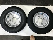 Two x 145R10 Trailer Wheel & Tyre will fit some Ifor Williams trailers